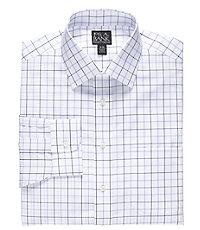Traveler Tailored Fit Point Collar Pattern Dress Shirt