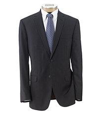 Joseph Slim Fit 2 Button Plain Front Wool Suit- Charcoal Plaid
