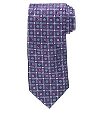 Signature Ornate Grid with Squares Tie