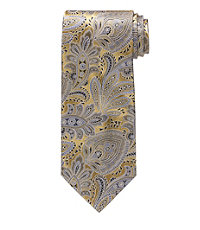 Signature Feather Paisley Long Tie