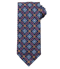 Signature Gold Allover Geometric Squares Tie