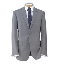 Joseph Slim Fit 2-Button Suits with Plain Front Trousers- Light Grey Tropical