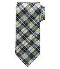 "Executive Plaid 61"" Long Tie"