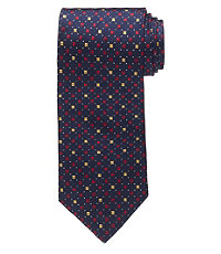 Executive Squares Text Circles Tie