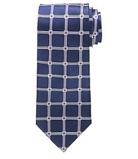 "Executive Large Grid on Basketweave 61"" Long Tie"