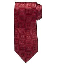 Signature Tonal Geometric Square Tie