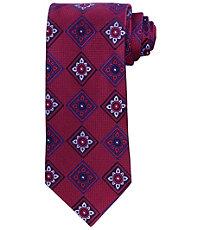 Signature Large Floral Squares Tie