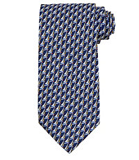 Conversational Allover Sailboats Tie