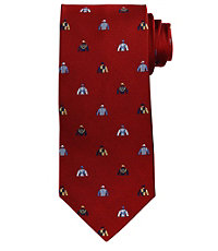 Conversational Jockey Silks Tie