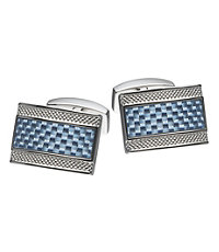Carbon Fiber Rectangle Cufflinks