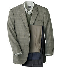 Executive 2-Button Patterned Sportcoat-Extended Sizes