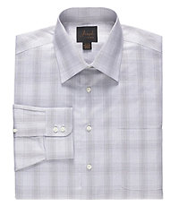 Joseph Spread Collar Tailored Fit Muted Plaid Dress Shirt