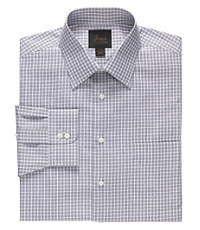 Joseph Spread Collar Tailored Fit Check Dress Shirt