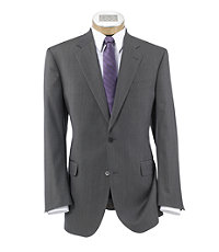 Signature Gold 2-Button Superfine Wool Suit- Taupe Microweave
