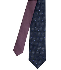 Joseph Slim Dots with Squares Tie