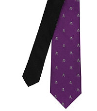 Joseph Slim Skull and Crossbones Tie