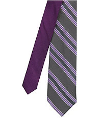 Joseph Slim Satin Track Stripe Tie