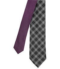 Joseph Slim Small Plaid Tie