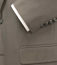 Executive 2-Button Poplin Suit Extended Sizes