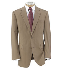 Executive 2-Button Poplin Plain Front Suit