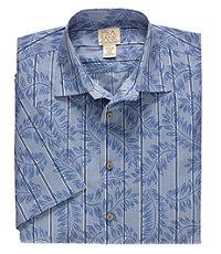 VIP Take it Easy Point Collar Short-Sleeve Pattern Sportshirt