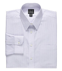 Traveler Point Collar Multi Stripe Dress Shirt