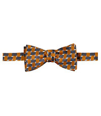 Executive Large Geometric Weave Bow Tie