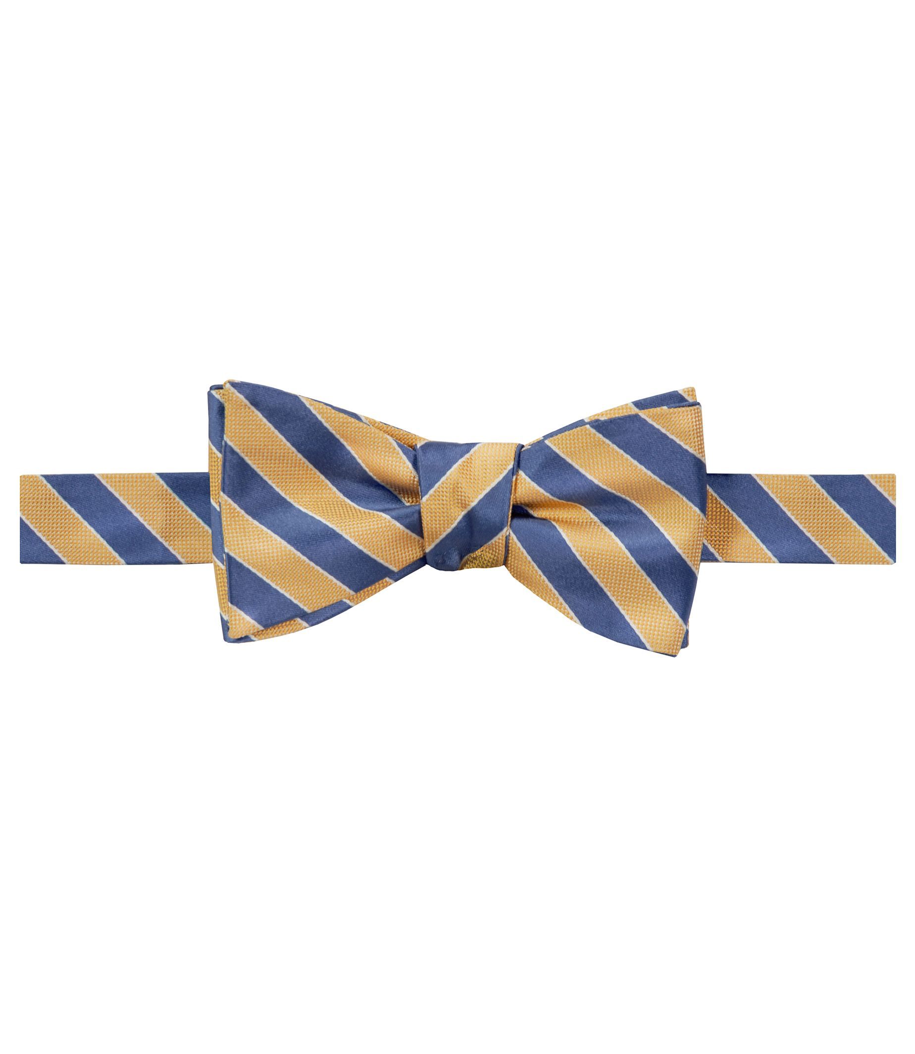 Executive Stripe Bow Tie $39.16 AT vintagedancer.com