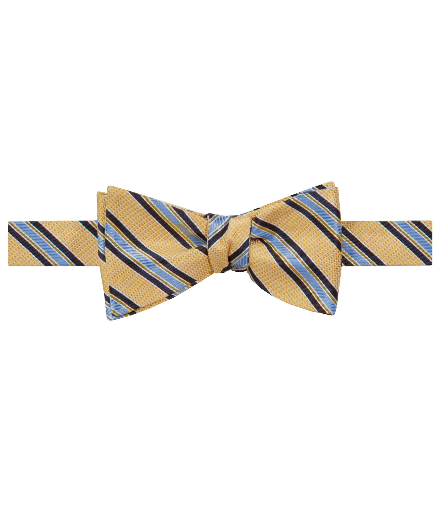 Executive Track Stripe on Textured Ground Bowtie