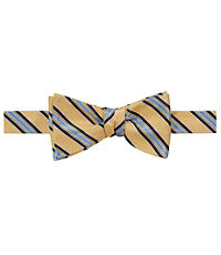 Executive Track Stripe on Textured Ground Bow Tie
