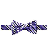 Executive Chevron Micro Bow Tie