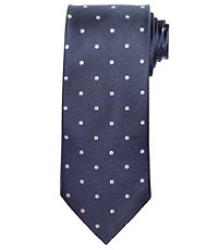Signature Satin with Large Dots Long Tie