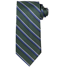 Executive Super Repp with Blue Satin Stripe Tie