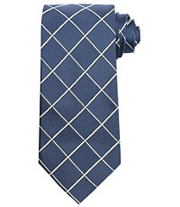 Executive Large White Grid Tie $49.50 AT vintagedancer.com