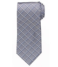Executive Grid Long Tie $64.50 AT vintagedancer.com