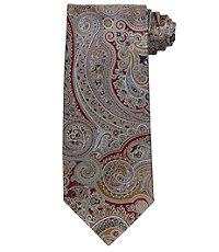 Signature Ornate Metalic Paisley Tie