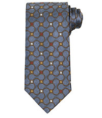 Signature Allover Geometric Circles Long Tie