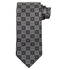 Signature Alternating Squares Long Tie