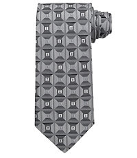 Signature Allover Geometric Squares Tie $79.50 AT vintagedancer.com
