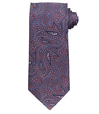 Signature Allover Paisley on Herringbone Ground Long Tie