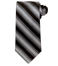 Signature Textured Satin Stripe Long Tie
