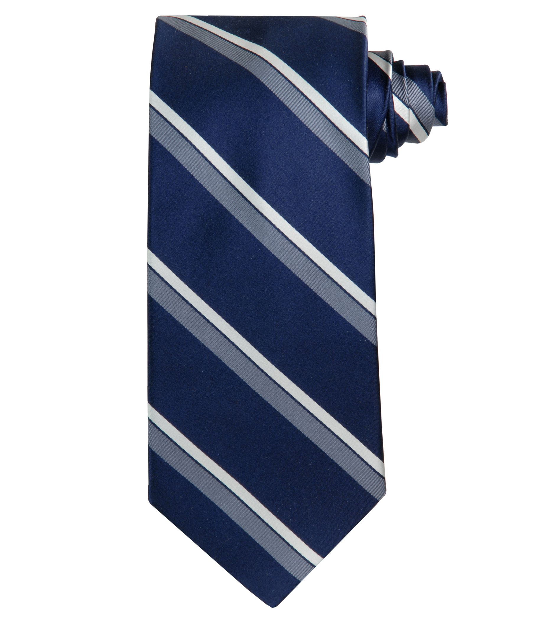 Signature Satin Dressy Stripe Tie