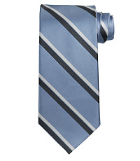 Signature Satin Dressy Stripe Long Tie