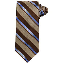 Signature Herringbone with Satin Stripe Long Tie