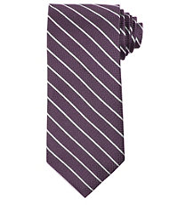 Signature Thin Satin Stripe on Textured Ground Tie