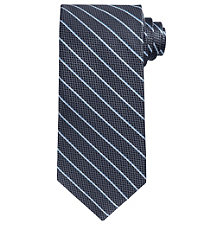 Signature Thin Satin Stripe on Textured Ground long Tie