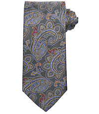 Signature Gold Multicolor Paisley Long Tie