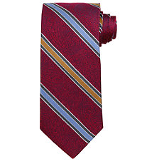 Signature Gold Tapestry with Multi Stripes Long Tie