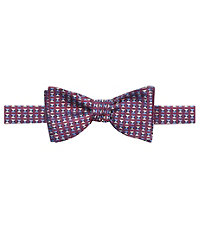 Executive with Blue/White Triangles Bow Tie