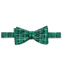 Executive Overlapping Grid Bow Tie